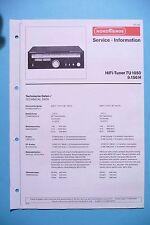 Service Manual instructions for Nordmende TU 1050 ,ORIGINAL
