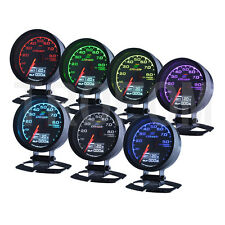 WATER TEMP Gauge Voltage Boost Gauges Sensor Digital/Analog+7Color Display 62mm