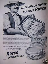 PUBLICITÉ 1954 ROYCO POTAGE DE ROI POTAGE VELOUTÉ D'ASPERGE - ADVERTISING