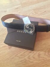 Gucci  Leather Belt In Black Colour, Size 95/38