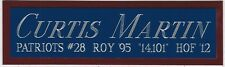 CURTIS MARTIN PATRIOTS NAMEPLATE AUTOGRAPHED SIGNED FOOTBALL-HELMET-JERSEY-PHOTO