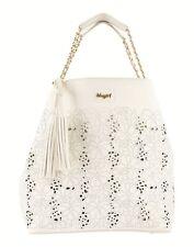 BLUGIRL BLUMARINE Shoulder Hobo Bag Large Cut Out Floral Pattern Zip Closure