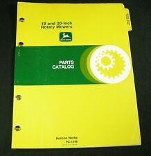 John Deere 18 & 20 Inch Rotary Lawn Mowers Parts Manual Book Catalog Oem