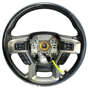 2017-2021 Ford F-250 OEM Black Leather w Red Stitch Steering Wheel LC3Z-3600-JC