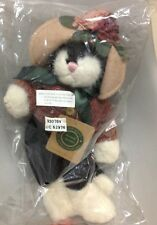 "BOYDS BEARS MRS PETRIE Black White Cat Plush Jointed 12"" Retired SEALED! MWMT"