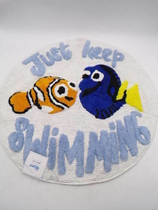 Pottery Barn Kids Disney and Pixar Finding Nemo Bath Mat Rug Blue Multi #9850