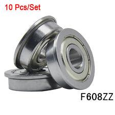 Metric flanged Bearing Flange Ball Bearing  F608ZZ 8*22*7 mm New  10pcs