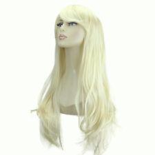 """20"""" DONNA BELLISSIMA Pieno Parrucca Lunghi Capelli Pezzo Flick stile più leggero bionda #60"""