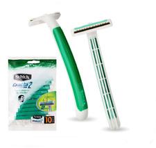 Schick Exacta 2 Disposable Razor 40pcs, Twin Blades Sensitive Skin Vitamin E