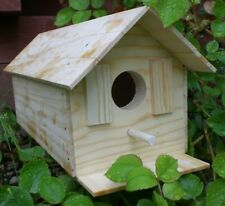New listing Wood Bird House Kit Complete with Nails New And Improved