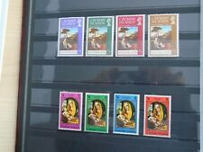Cayman Islands. Private lot of 2 sets of 4 Mint Stamps. Lovely collection