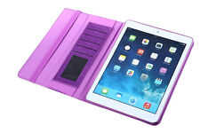 King of Flash Purple Apple iPad Air 2 Drawsting Card Slots Standing Case Cover