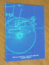 Mercedes Benz 100 years of motor cars 1886 - 1986 original 50 page publication