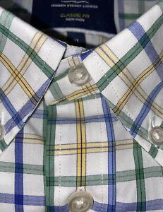 Charles Tyrwhitt Non-Iron Short Sleeved Mens Shirt, Size XL Classic Fit