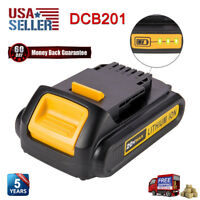 New 20V For DEWALT DCB201 DCB203 DCB205 DCB207 Max Li-Ion Upgrade Battery Pack