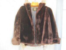 Tulsa Streets Teddy Bear Brown Faux Fur Coat Special Made See Measurements OOAK