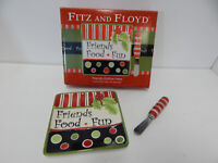 Fitz & Floyd Friends Gather Here Holiday Snack Plate & Spreader