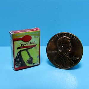 Dollhouse Miniature Replica Super Moist Yellow Cake Mix Box G012