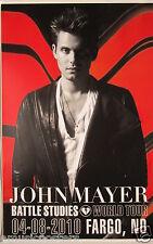 """John Mayer """"Battle Studies World Tour"""" 2010 Fargo Concert Poster - John In Coat"""