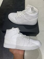 Jordan 1 Mid Triple White UK 6