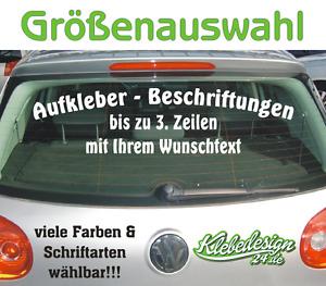 3. Zeilen Aufkleber Beschriftung 50-170cm Werbung Sticker Werbebeschriftung Auto