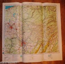 Authentic Soviet Army Military Topographic Map Pittsburg, Pennsylvania USA