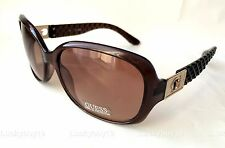 NWT GUESS GUF 247 Brown Authentic Sunglasses Rectangular Women Gift /477/ New