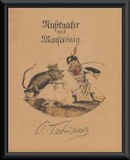 The Nutcracker Suite & Tchaikousky Autograph Reprint On 100 Year Old Paper P181
