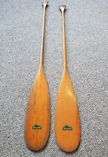 Antique Allagash Wood Canoe / Kayak /Boat Paddles w/ label