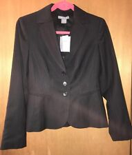 NWT Ann Taylor Black Wool 3 Piece Suit Pant Skirt Size 0