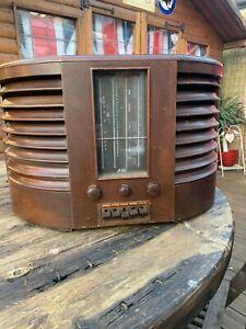 VINTAGE GEC BC4750  LW/MW/SW/GRAM AC MAINS RADIO IN WOOD CABINET - CIRCA 1947