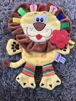 Nuby Lion Cuddle Comforter Baby Comfort Blanket Teether