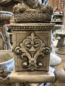 Solid Square stone plinth highly detailed heavy stunning pillar decorated