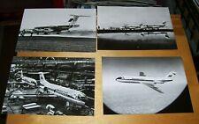 FOKKER F28 FELLOWSHIP AIRLINER ORIGINAL PRESS PHOTOGRAPHS (4)