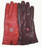 New Women's Gloves Genuine Lambskin Leather Sheepskin leather Winter Gloves