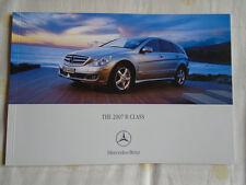 Mercedes r classe brochure 2007 marché canadien