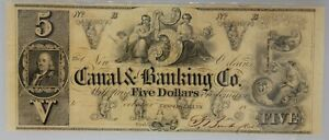 PMG MS 62 Remainder New Orleans Canal & Banking Co. $5 Note 1840s