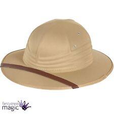 Les adultes Safari casque chapeau colonial explorateur Zoo Keeper accessoires costume robe fantaisie
