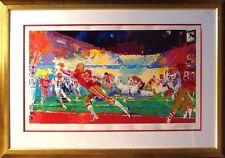 LeRoy Neiman Super Play football Hand signed framed Original Color Serigraph Art