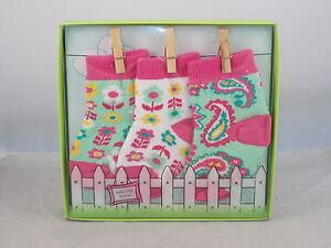 Vera Bradley Baby 0-12 Months Tutti Frutti Baby Socks Boxed 3 Pair Set 12769-140