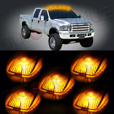 5x Cab Marker Running Light Amber Lens+5x168 Xenon 5730SMD LED Lights For Chevy