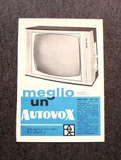 M108- Advertising Pubblicità -1960- AUTOVOX TELEVISORE MOD 891