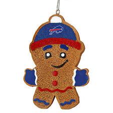 Buffalo Bills Gingerbread Man Christmas Tree Ornament NEW - RGB13