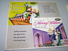 Vintage STUDENT PRINCE THE MERRY WIDOW 1955 Double Soundtrack Musical LP CAPITAL