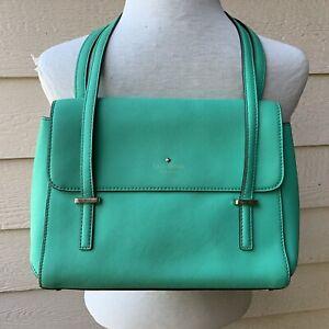 Kate Spade Green Satchel Handbag Purse Bag Casual Cilantro Business Work