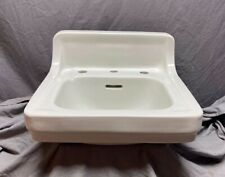 Vtg  Ceramic White Porcelain Bathroom Wall Sink Old Standard Trenton 592-20E