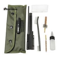 10pcs .22 22LR .223 556 Rifle Gun Cleaning Kit Set Cleaning Rod Nylon Brush