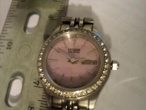 Citizen E001-S063515 Eco-Drive Stainless Steel Wristwatch Women's Watch Pink