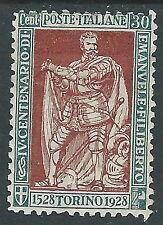 1928 REGNO FILIBERTO VITTORIA 30 CENT D. 11 MH * - Y220