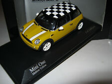 1:43 Mini Cooper One 2001 YELLOW 1 of 1008 MINICHAMPS 431138104 neuf dans sa boîte New